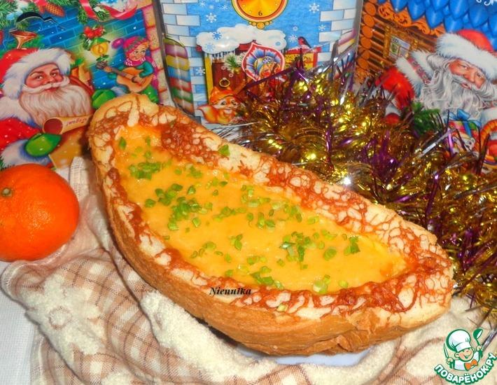 Рецепт: Закуска Новогодняя лодочка