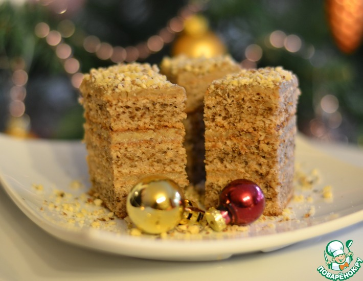 Рецепт: Дважды ореховый торт