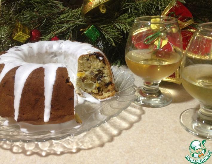 Рецепт: Орехово-мандариновый кекс