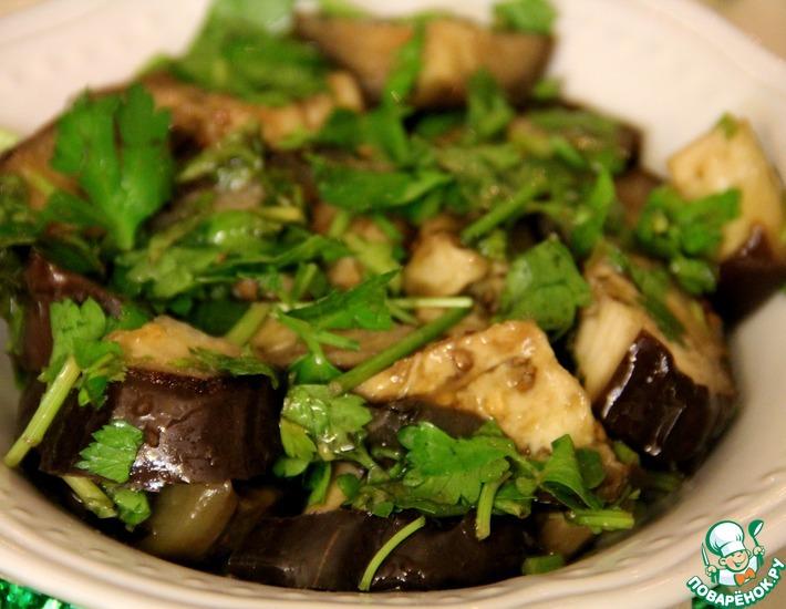 Рецепт: Маринованные баклажаны
