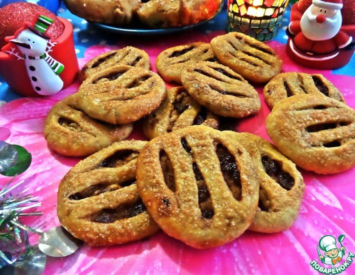 печенье с изюмом конвертики рецепт