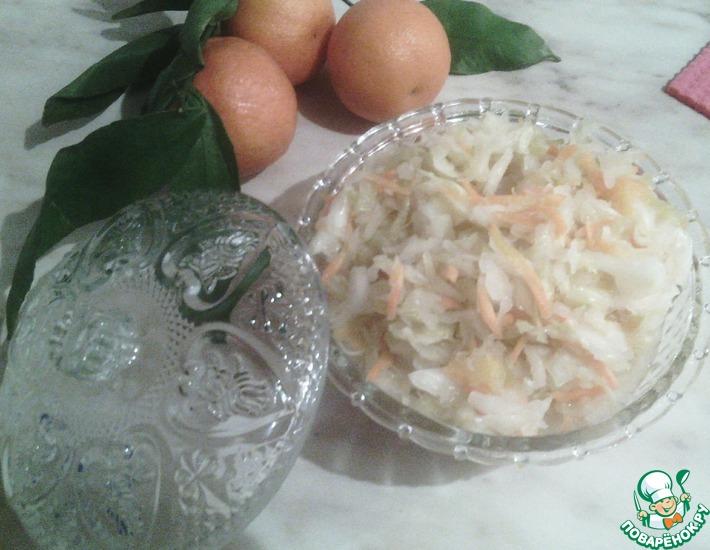 Рецепт: Квашеная капуста с морской солью