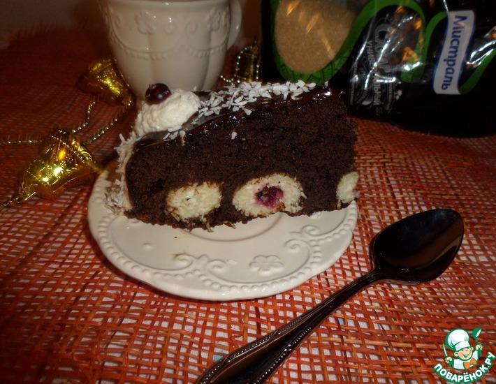 Рецепт: Пирог Снежки в шоколаде