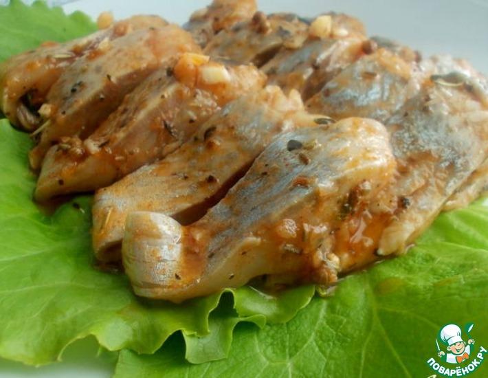 Рецепт: Маринованная сельдь с пряностями