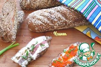 Рецепт: Ржано-пшеничный багет на солоде
