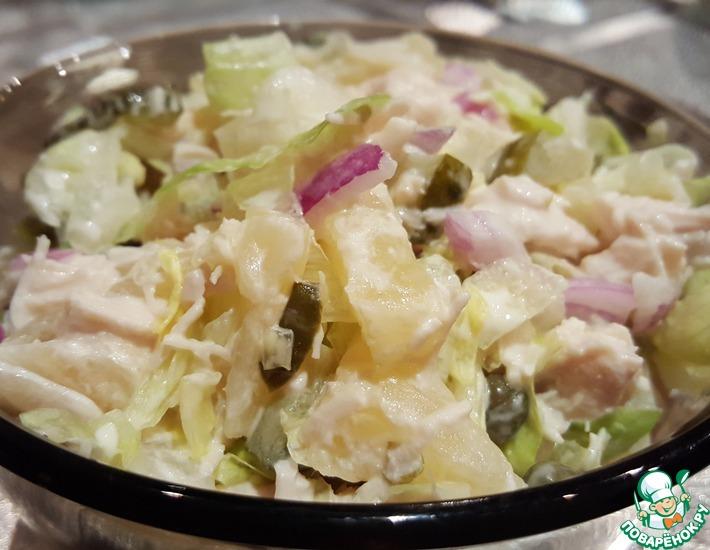 Рецепт: Салат с ананасом Купеческий