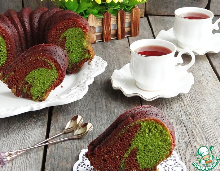 Рецепт: Кекс шоколадно-изумрудный