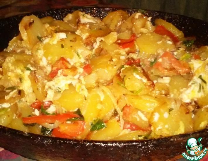 Рецепт: Жареный картофель по-азербайджански