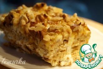 Рецепт: Десерт из сметаны и печенья по-гречески