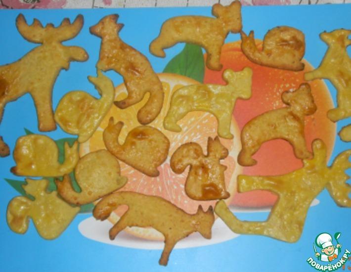 Рецепт: Творожное печенье Зверюшки