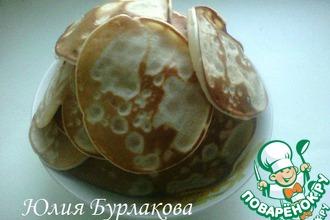 Рецепт: Творожные панкейки с йогуртом
