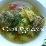 Картошка с тефтелями из мяса и гречки