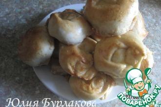 Рецепт: Булочки с творогом и вареной сгущенкой