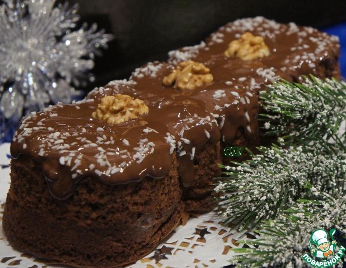 Рецепт: Кекс с шоколадом Бархатная ночь