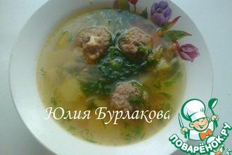 Рецепт: Суп картофельный с гречневыми фрикадельками