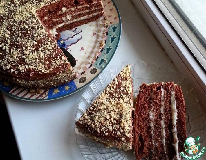 Рецепт: Кофейно-коньячный торт