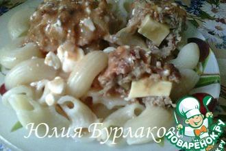 Рецепт: Мясные котлеты с капустой, кабачком и сыром
