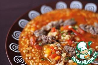 Рецепт: Суп с булгуром и чечевицей