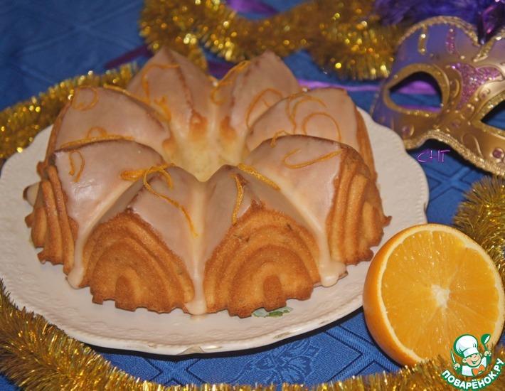 Рецепт: Апельсиновый кекс на белках