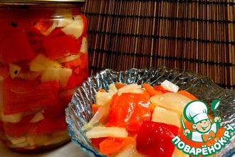 Рецепт: Сладкий перец в маринаде с морковью и пастернаком