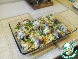 Вынуть блюдо из духовки и посыпать рубленым укропом.    И наша вкуснейшая рыбка готова!   Всем приятного аппетита!