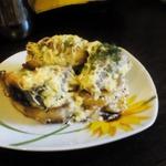 Скумбрия, запеченная с картофелем в сметанном соусе