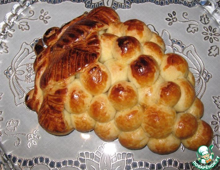 Рецепт: Пирог Виноградная гроздь из хрущевского теста