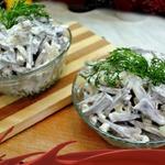 Салат из говяжьего сердца с маринованным луком
