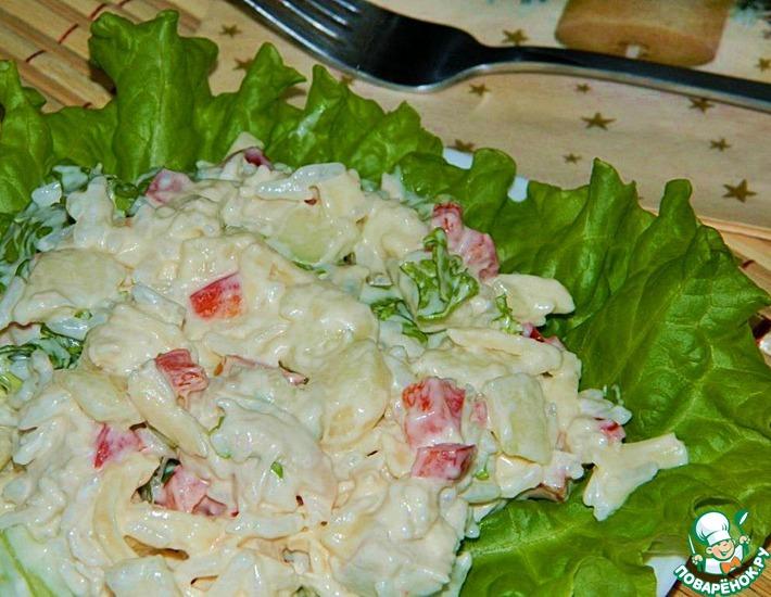 Рецепт: Рисовый салат с курицей и грушей