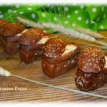 Творожно-сырная запеканка в мини-хлебчиках