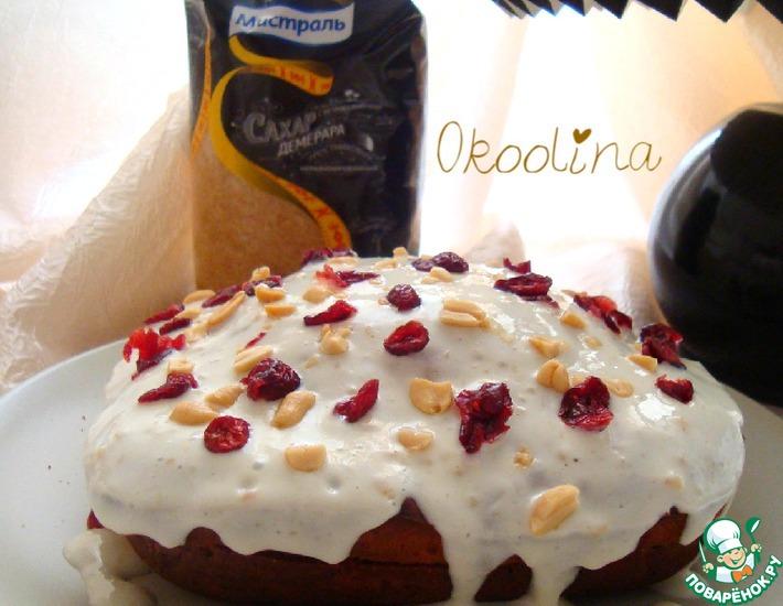 Рецепт: Морковно-тыквенный пирог с соленым арахисом