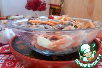 Рецепт: Салат из говяжьего легкого