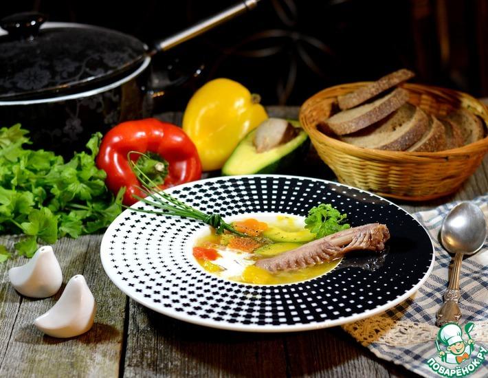 Рецепт: Суп из утки с овощами и диким рисом