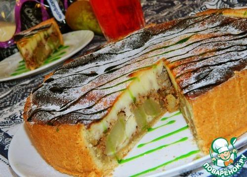 Пирог грушевый с грецким орехом – кулинарный рецепт