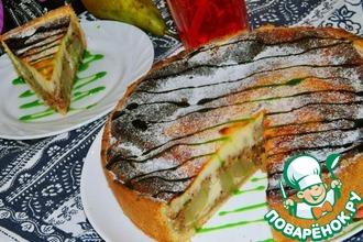 Рецепт: Грушевый пирог с грецкими орехами
