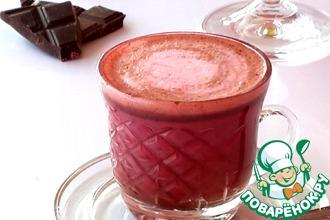 Рецепт: Горячий шоколад Красный бархат
