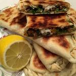 Турецкие лепешки Гезлеме с мясом