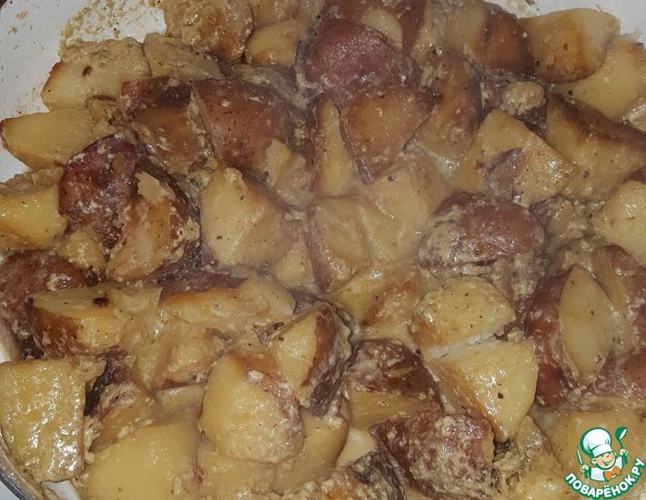 Рецепт: Картофель на молоке От Лёнчика