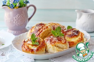 Scones with curd and cream filling