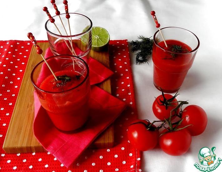 Рецепт: Вишнево-томатный гаспачо