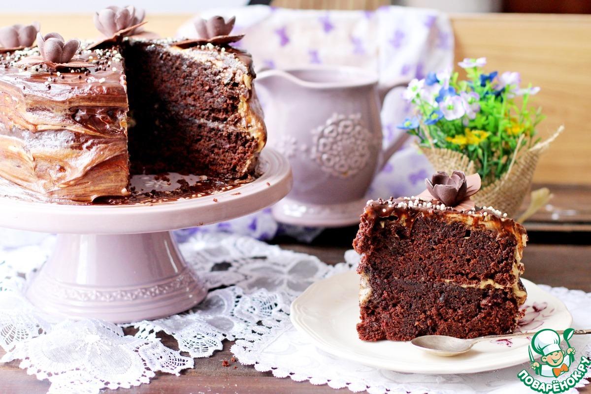 Шоколадный торт со свеклой