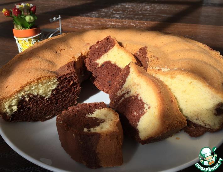 Рецепт: Мраморный кекс