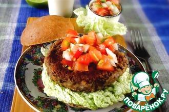 Рецепт: Веганские бургеры с томатной сальсой