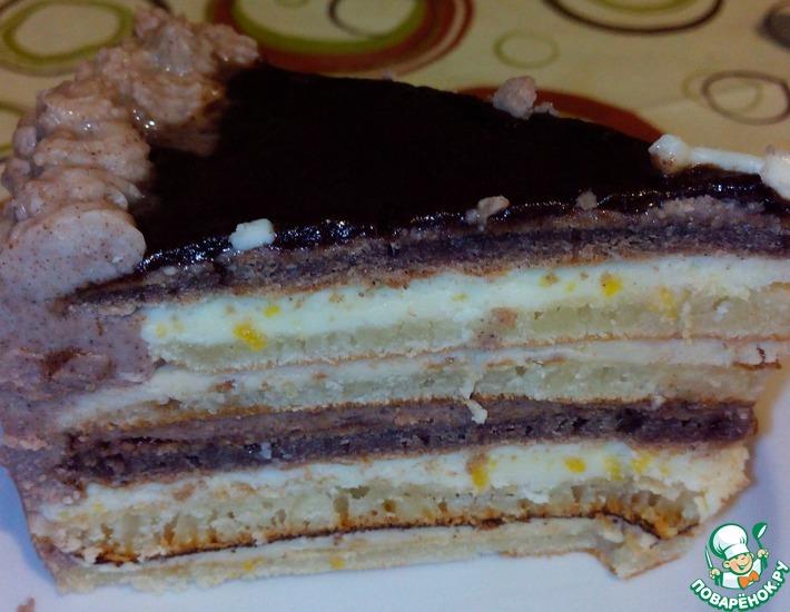 Рецепт: Торт Шоколад и кофе с лимоном