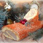 Закусочное рождественское полено с печеночным кремом