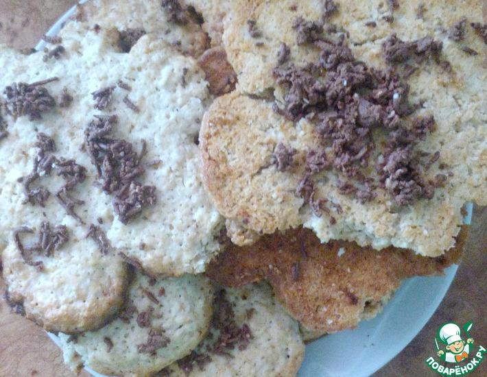 Рецепт: Овсяное печенье хрустящее