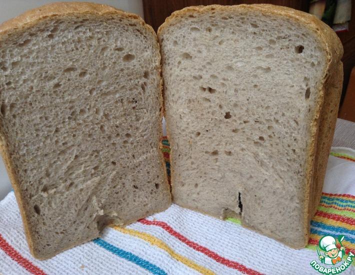 Рецепт: Хлеб яблочный на закваске в хлебопечке