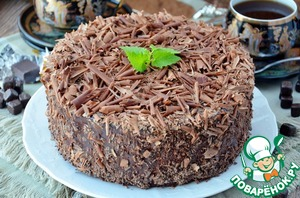 Chocolate-cherry mousse cake