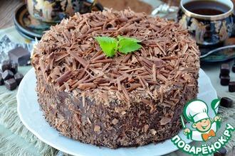 Рецепт: Шоколадно-вишневый торт-мусс