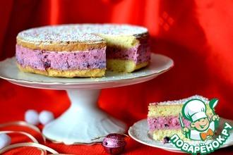 Рецепт: Торт с замороженными ягодами